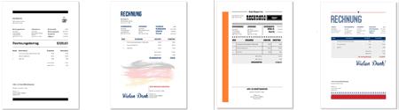 100 Neue Rechnungsvorlagen