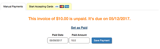 Edit Payment