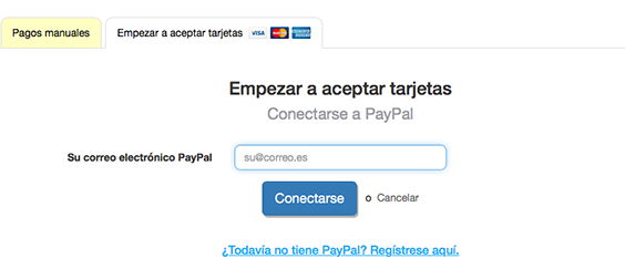 Conectarse a PayPal