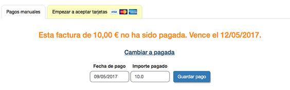 Editar pago