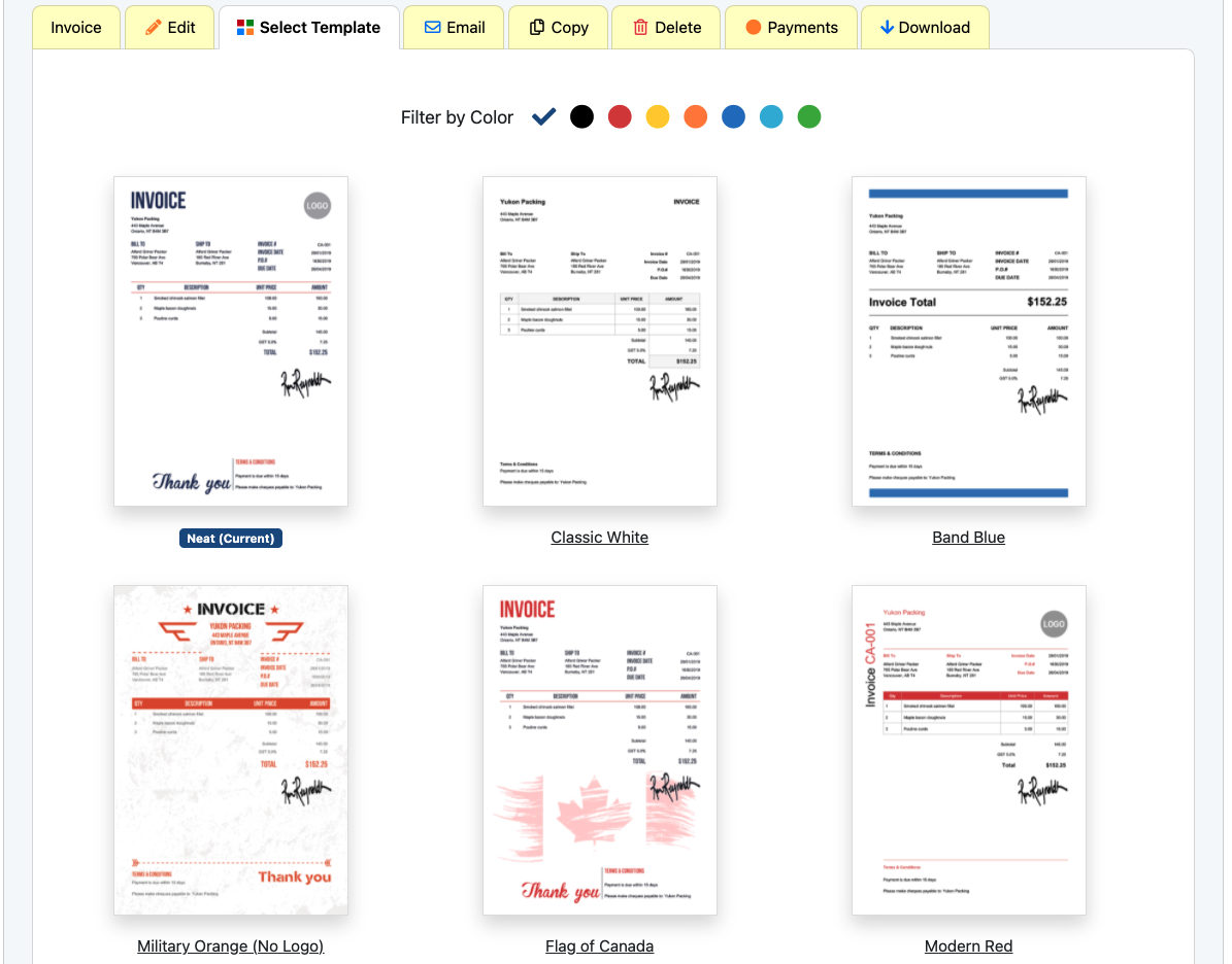 Peruse our 300 templates