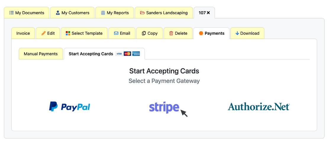 Choose a Payment Option